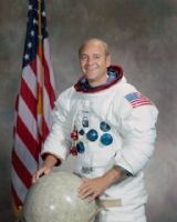 NASA Apollo 17 Astronaut Ronald 'Ron' Evans Full Colour Portrait
